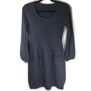 Elie Tahari Balloon Sleeve Scoopneck Sweater Dress